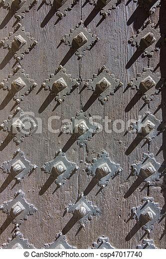 Metal door background - csp47017740