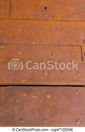 Metal door background - csp47122046