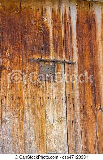 Metal door background - csp47120331