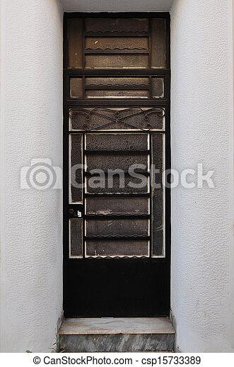 Metal Door Frame Pattern Old Metal Door Frame With Abstract Classic