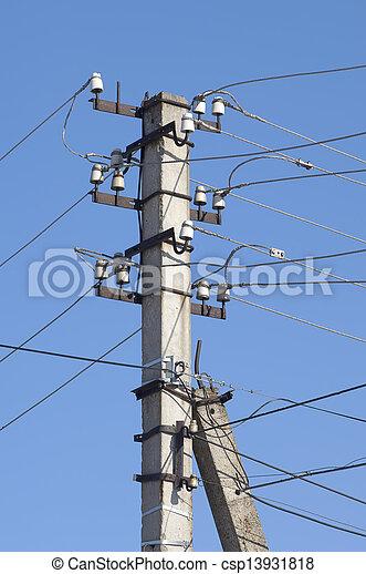 metal electric post - csp13931818