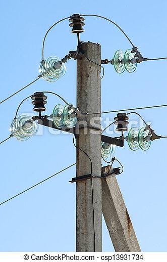 metal electric post - csp13931734