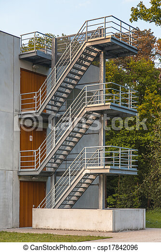 Metal Emergency Escape Stairs   Csp17842096