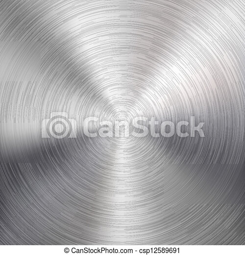 metal escovado, fundo, textura, circular - csp12589691