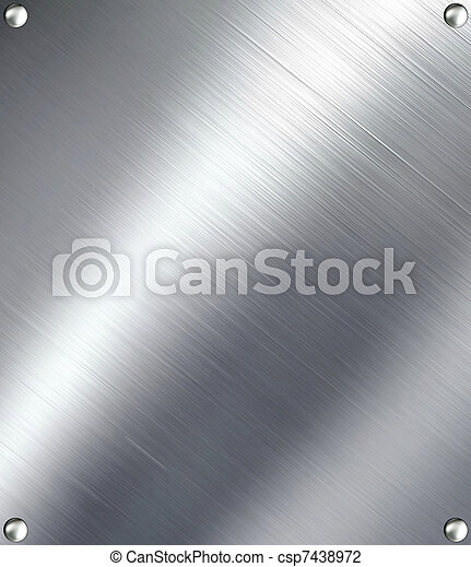metal., escovado, prata - csp7438972