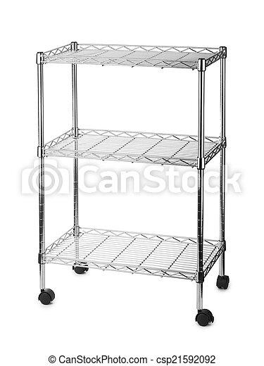 Metal estante estantes Estantes metal aislado plano de fondo