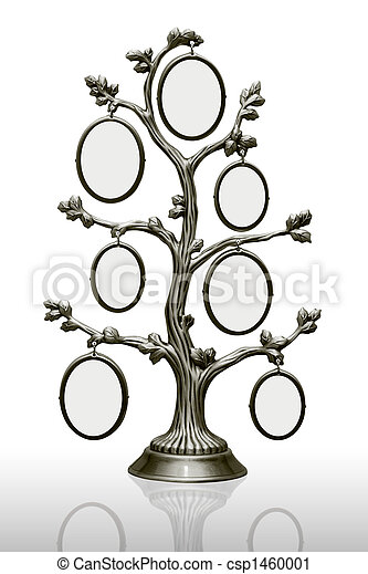 Metal Family Tree With Frames Metal Tree With Small Frames Over White