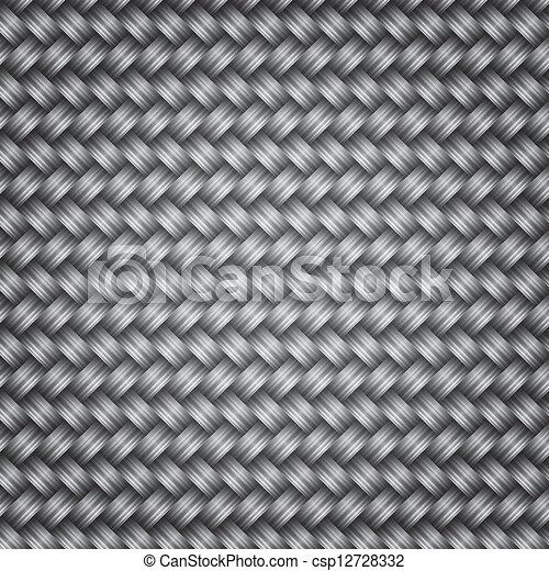Metal fiber wicker texture background - csp12728332
