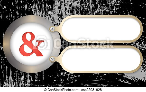 metal frames with ampersand and scratched background - csp23981928