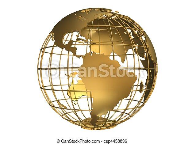 metal globe - csp4458836