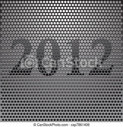 Metal grille 2012 - csp7861406