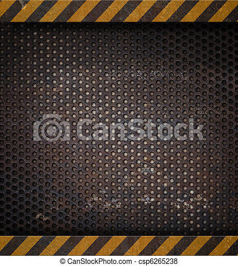 metal holed or perforated grid background - csp6265238
