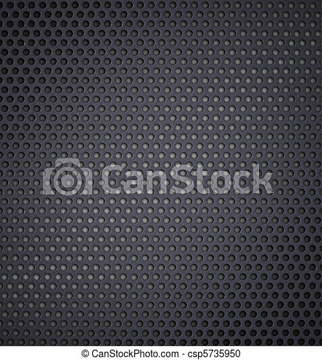 metal holed or perforated grid background - csp5735950