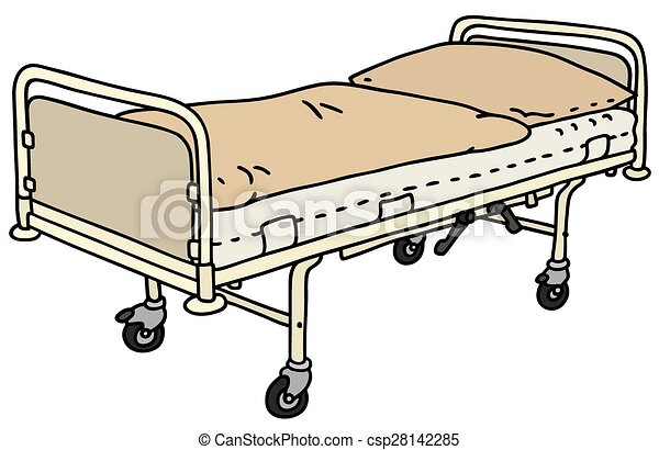 Metal Hospital Bed Hand Drawing Of A Classic