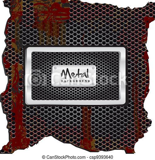metal label - csp9393640