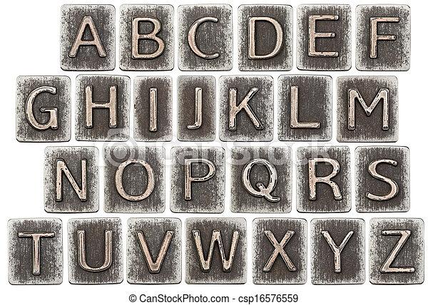 Metal letters - csp16576559
