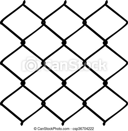 metal mesh fence fence made of metal wire mesh illustration on rh canstockphoto com Wire Fence Clips Wire Clips and Fasteners