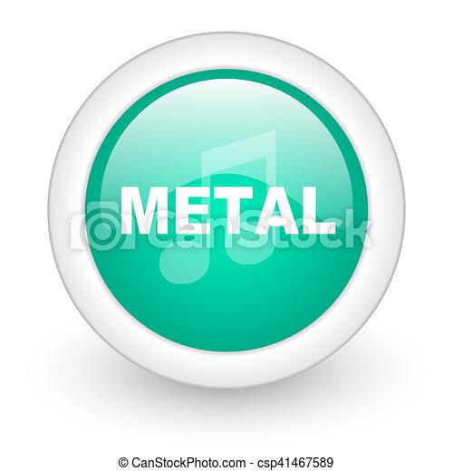 metal music round glossy web icon on white background - csp41467589