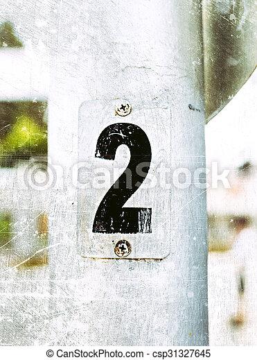 metal numbers - csp31327645