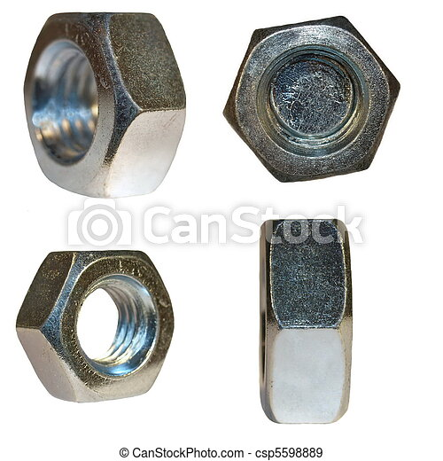 metal nut on isolated background - csp5598889