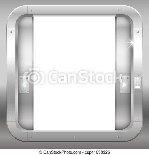 metal open double doors csp41038326 door drawing59 drawing