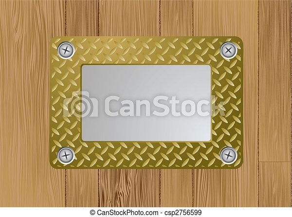 Placa de metal dorado - csp2756599
