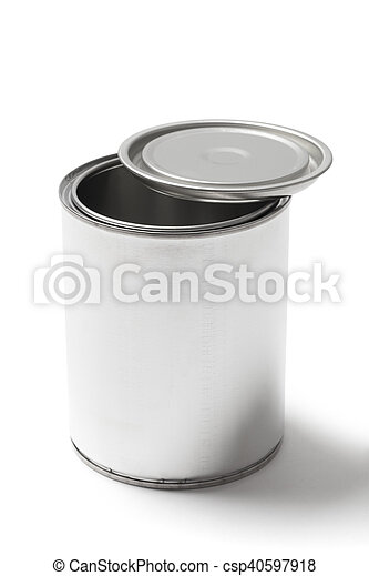 Metal Paint Can with a Clipping Path - csp40597918