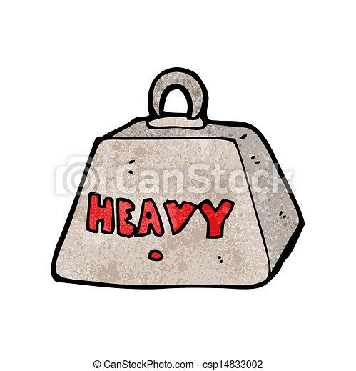 metal pesado, caricatura, peso - csp14833002