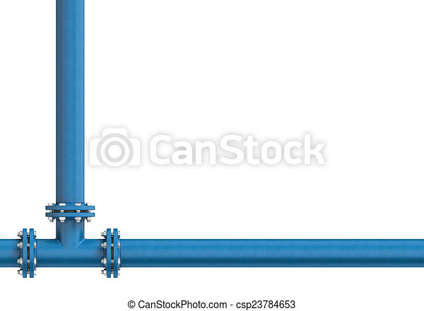 Metal pipe isolated on a white background - csp23784653