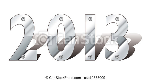 Silver metal 2013 - csp10888009