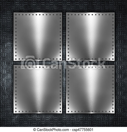 Metal plate background - csp47755601