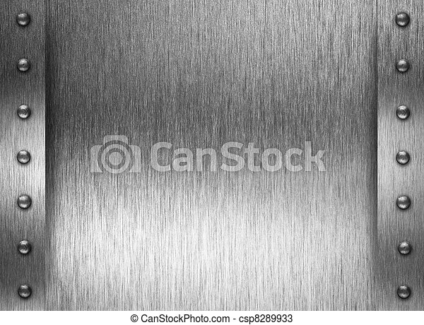 Metal plate or armour texture with rivets - csp8289933