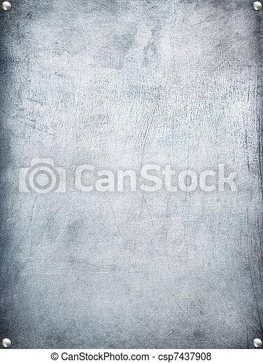 Metal plate steel background. - csp7437908