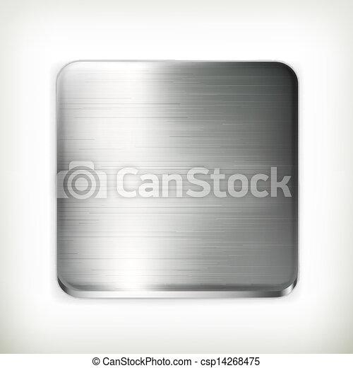 Metal plate, vector - csp14268475