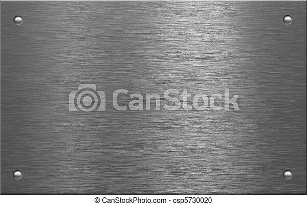 rivets in metal. metal plate with four rivets in