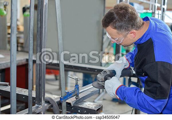 metal polishing - csp34505047