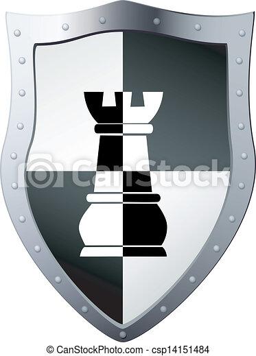 Escudo de metal - csp14151484