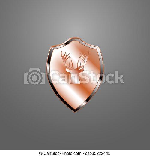 Escudo de metal - csp35222445