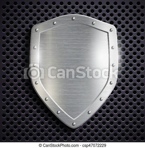 Escudo de metal - csp47072229