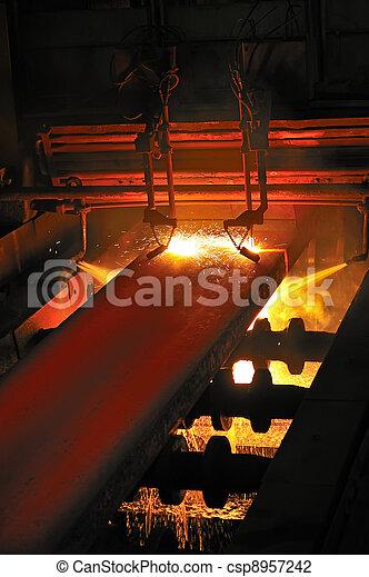 metal, quentes, corte, gás - csp8957242