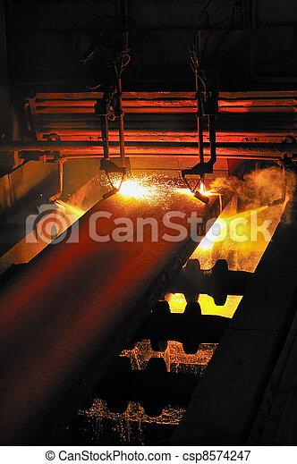 metal, quentes, corte, gás - csp8574247