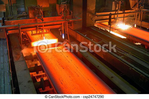 metal, quentes, corte, gás - csp24747290