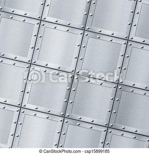 Trasfondo de metal blindado con remaches - csp15899185