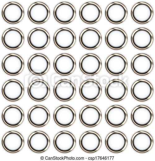 metal rings on a white background - csp17646177