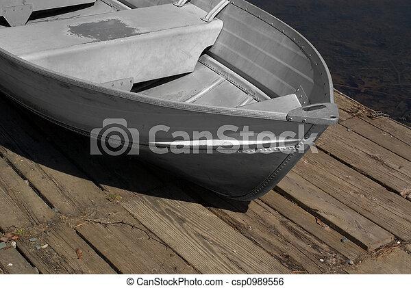Metal row boat - csp0989556