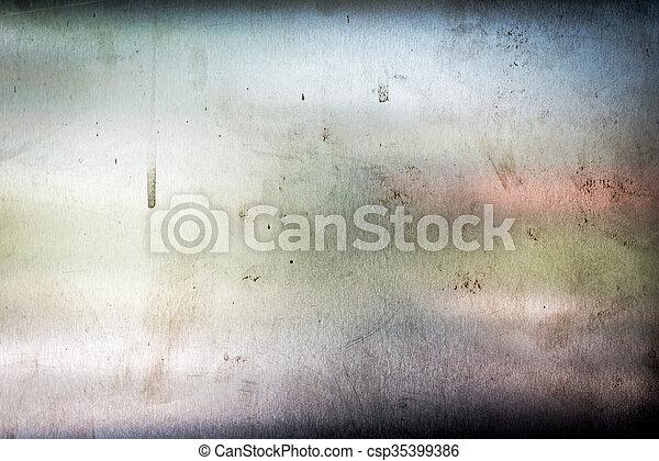 Metal sheet texture in soft light - csp35399386