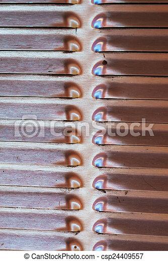 Metal sheet texture in soft light - csp24409557