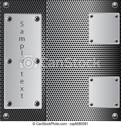 metal shield background - csp6580391