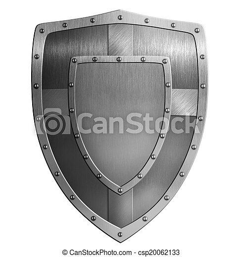 metal shield illustration - csp20062133