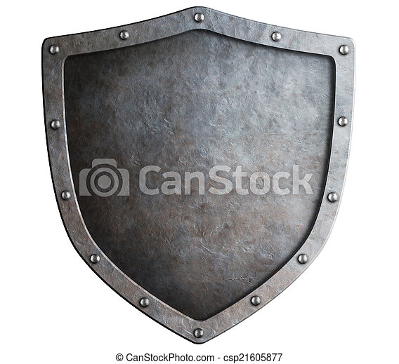 metal shield isolated - csp21605877
